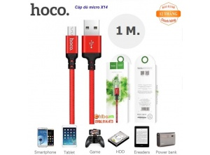 Cable Sạc Nhanh Androi Hoco X14 - 1m