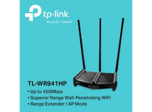 TP-Link 450Mbps High Power Wireless N Router TL-WR941HP - 3 anten